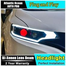 Koplampen Voor Honda Fit GK5 2014 2019 Led/Xenon Dimlicht Grootlicht Led dagrijverlichting Sequentiële richtingaanwijzer 1 Paar