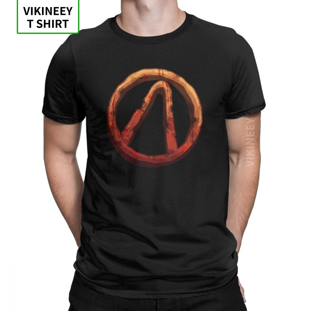 Seal Borderlands T Shirt For Men Cotton Vintage T-Shirt Crew Neck Team Weapon Games Tees Short Sleeve Tops Printed