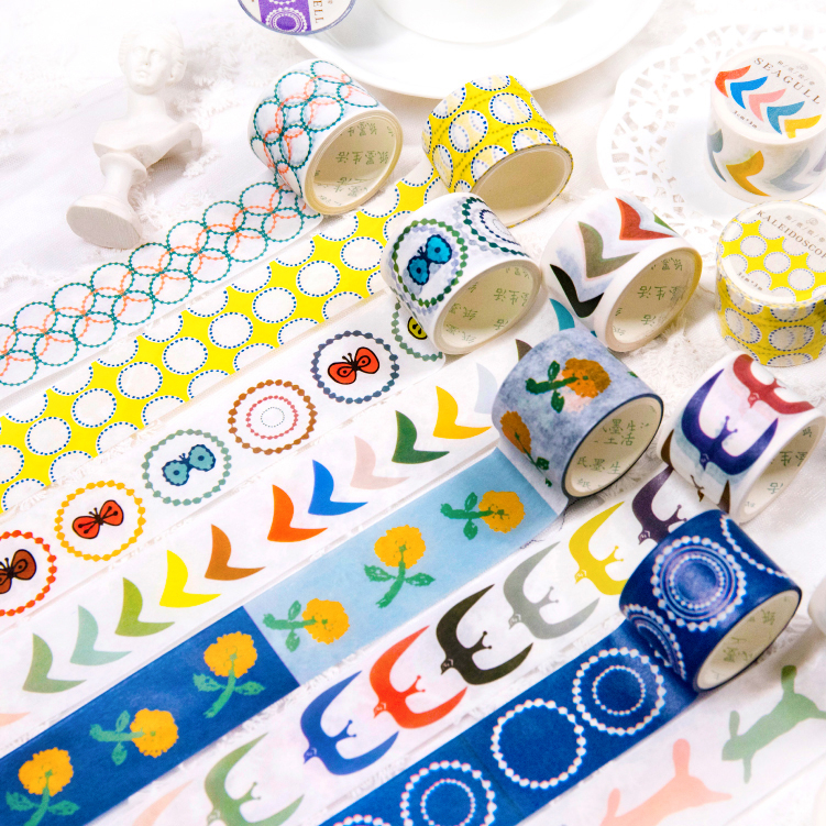 Color Animals Washi Tape Sticky Decorative Masking Paper Tape Set DIY Decoration Office Stationery Scrapbook 1PCS