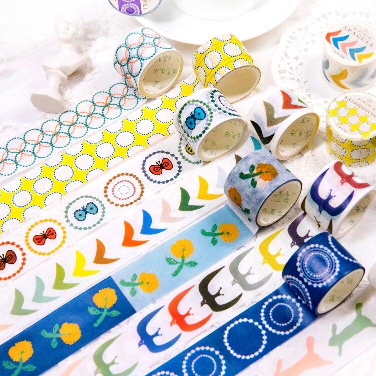 Color Animals Washi Tape Sticky Decorative Masking Paper Tape Set DIY Decoration Office Stationery Scrapbook 1PCS