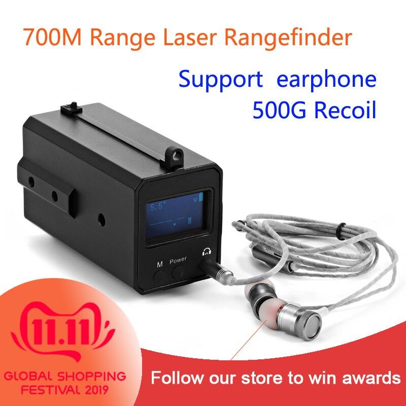 LE033 Mountable Mini Rangefinder Support Earphone Read Data 700M Range Night Riflescope Range Finder With OLED Display
