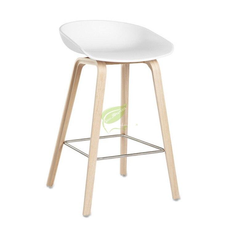 Nordic Modern Minimalist Bar Chair Home Retro High Chair Solid Wood Rotating Bar Chair Back High Stool Gold Metal Chair Dotomy