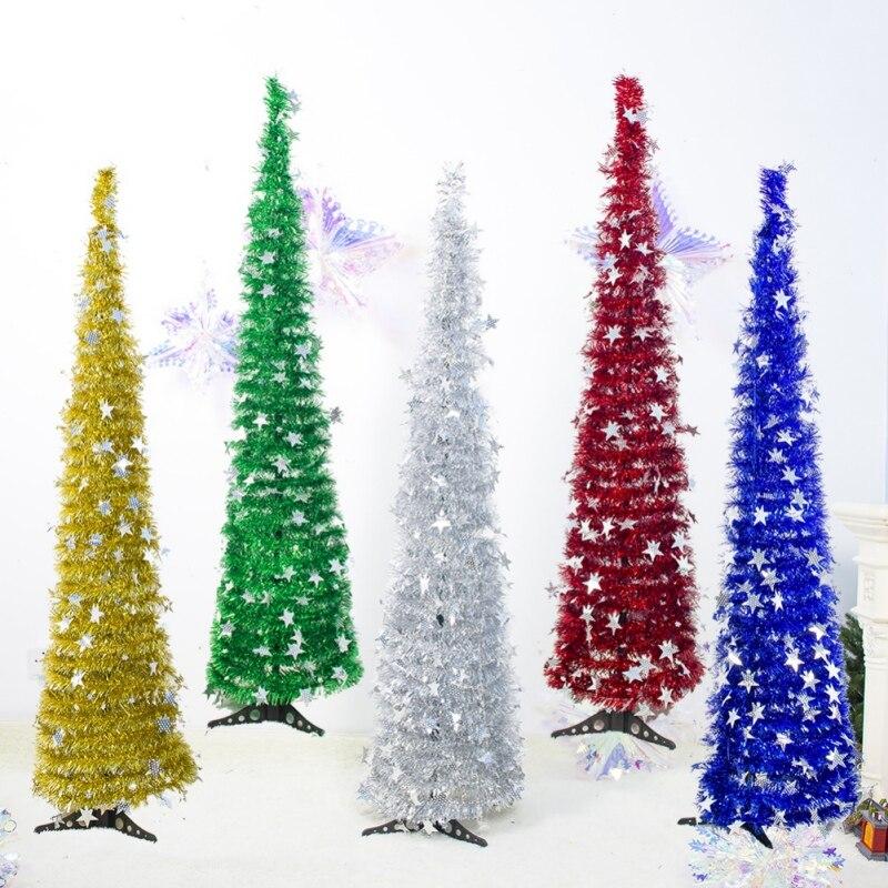 1.5M DIY Sequins Christmas Tree Ornaments Festive Decorations Christmas Trees Supplies