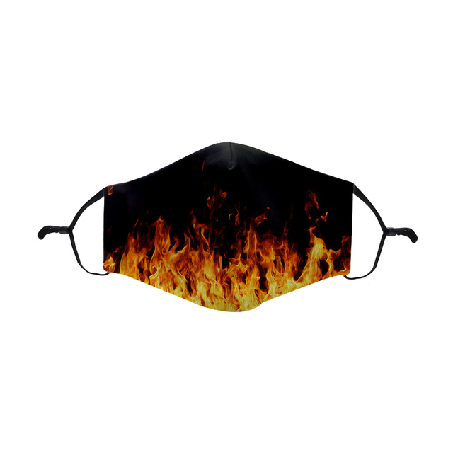 New Fire With Adjustable Straps Reusable Facemask Stylish Washable Face Mask Witch Filter Mouth Mask Black Windproof Mask 2