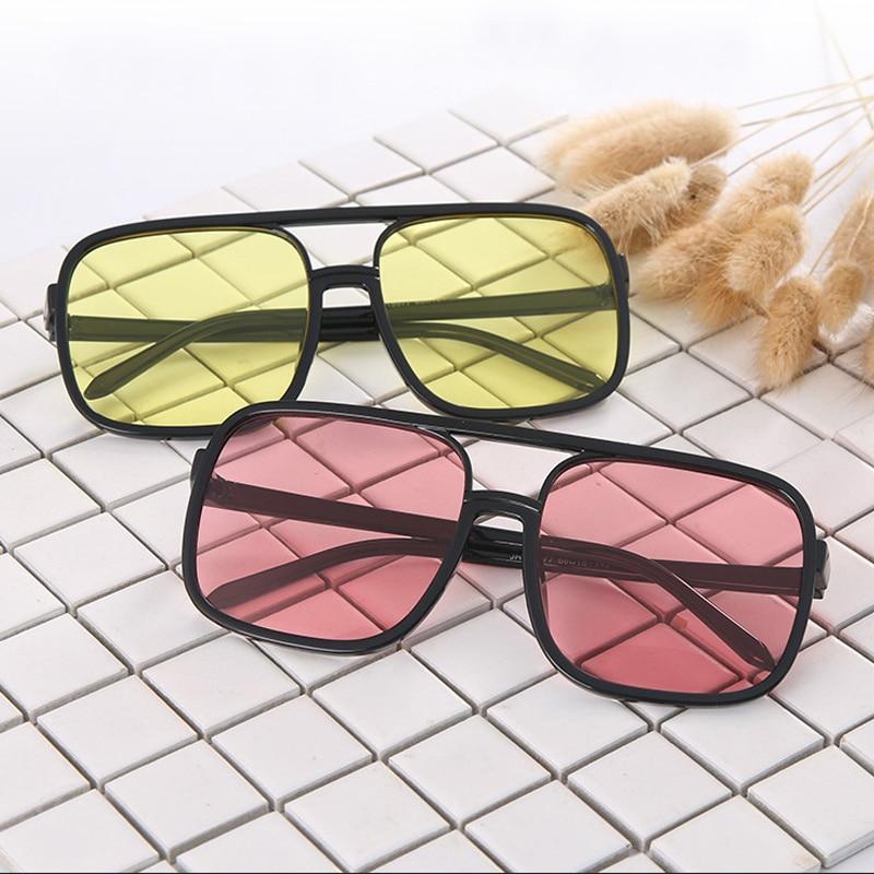 Sunglasses Women 2019 Retro Big Frame Square Black Sun Glasses Oversized Full Vintage Driver Goggles