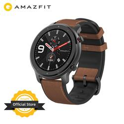 النسخة العالمية Amazfit GTR 47 مللي متر ساعة ذكية 5ATM جديد Smartwatch بطارية طويلة تحكم بالموسيقى للهاتف أندرويد IOS