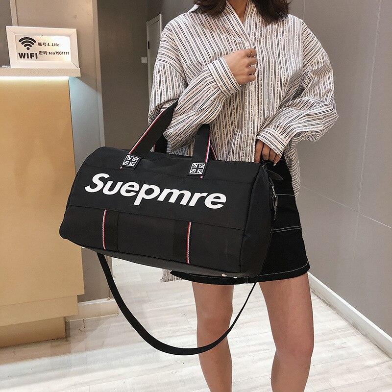 Korean Version Of Shoulder  Bag Fitness Bag Carrying Large Capacity Short-distance Travel Bag Sports  Bag