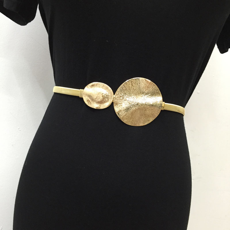 New Lady Metal Belt Women Spring Buckle Elastic Chain Female Belt Personality Belt For Women Women New Fashion Tide Belt