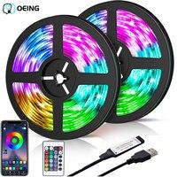 LED Licht Bar RGB 2835 Farbe Bluetooth USB Infrarot Fernbedienung Flexible Licht Mit Diode DC5V TV Hintergrundbeleuchtung Geeignet Für hause