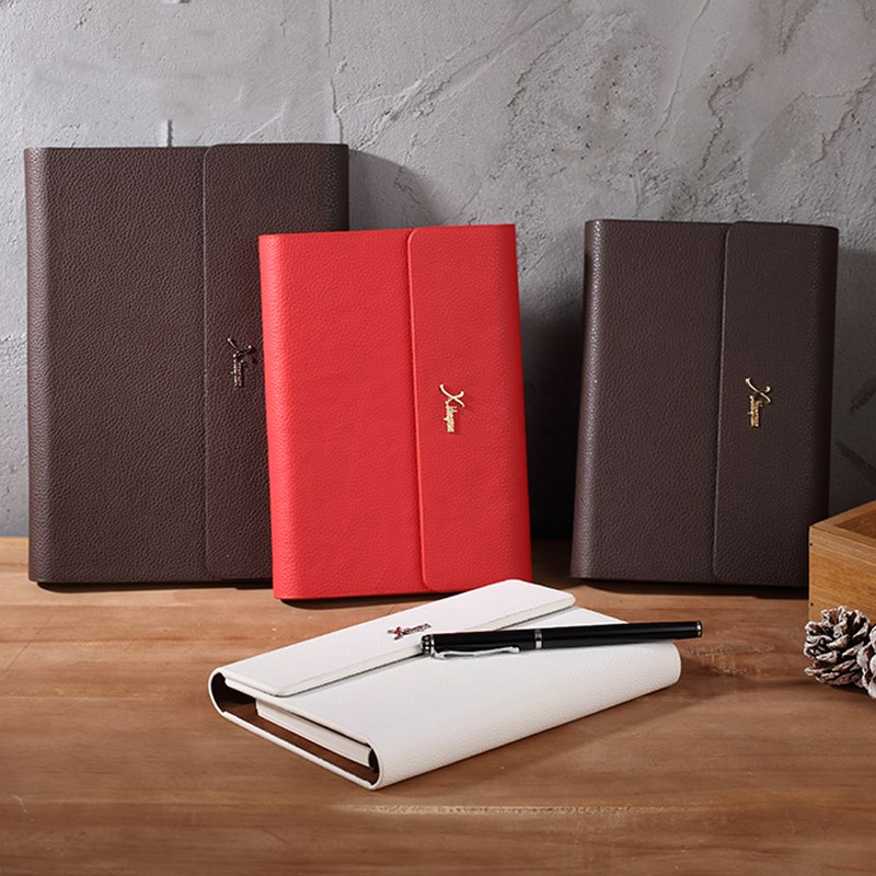 Business A5 Ring Notebook PU Diary Leather Binder Writing Pads Mini A6 Loose Leaf Planner Notepad Stationery Office Supplies