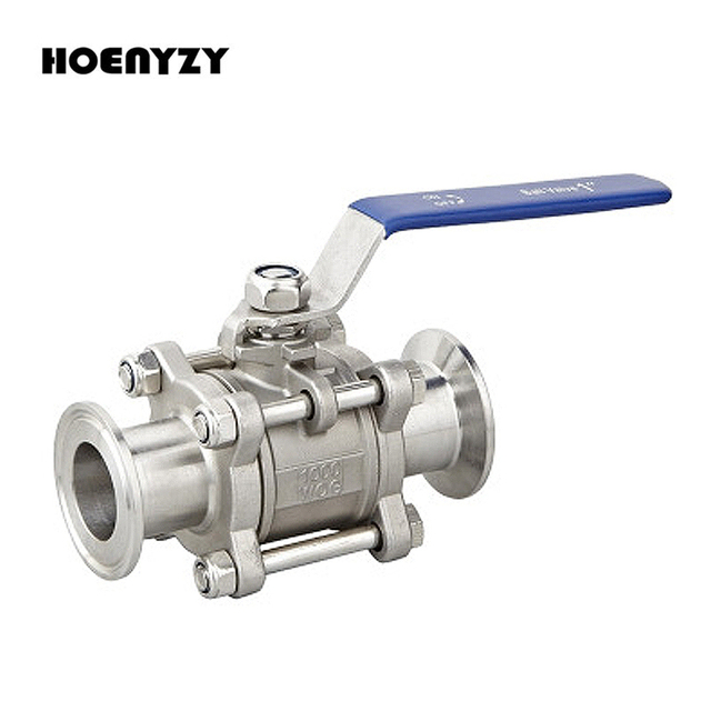 """1/2"""" 3/4"""" 1"""" SS304 Stainless Steel SS316 Sanitary Ball Valve 3 Three Piece 1.5"""" 50.5mm Tri Clamp Ferrule Type For Homebrew Diary"""