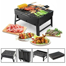 Foldable BBQ Grills Patio Barbecue Charcoal Grill Stove Stainless Steel Outdoor Camping Picnic Barbecue BBQ Accessories Tools foldable bbq grill outdoor camping picnic cooking grill portable stainless steel charcoal grilling stove barbecue accessory tool