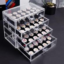Nail Storage Box Makeup Organizer Cosmetic Nail Accessories Storage Jewelry Display Rack Plastic Drawer Plastic Box 3/4/5 Layer