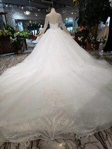 Image 2 - BGW HT562 europejski styl suknie ślubne z długim pociągiem Lace Up powrót luksusowa suknia ślubna 2020 New Fashion Design