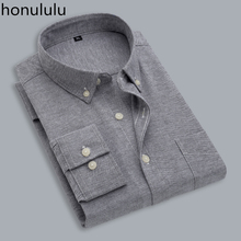 цена на Spring and autumn shirt men's long sleeve cotton Oxford textile business casual loose occupation warm solid color shirt