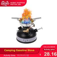 Camping Gasoline Stove Portable Outdoor Stove Mini Liquid Fuel Alcohol Diesel Camping Picnic Burner Petrol Oil Stove Cookware