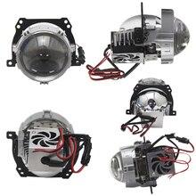 цена на 2 PCS RHD LHD 2.5 Inch Bi LED Projector Car Lens lenticulars Headlights for angel eyes e34 bmw e39 e 46 e60 led, for Golf 4 r32