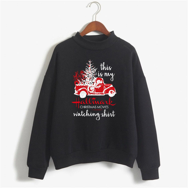 Women 2020 Variety of Christmas Sweatshirts Christmas Tree Truck Fun Christmas Pullovers Autumn Winter Women