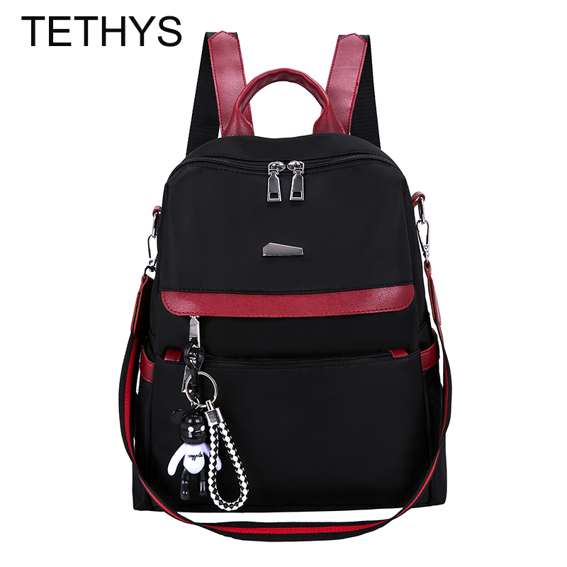 TETHYS Designer Bags Famous Brand Women Bags High Quality Waterpoof Backpack Women Large Capacity Bagpack Female Anti-theft Bags