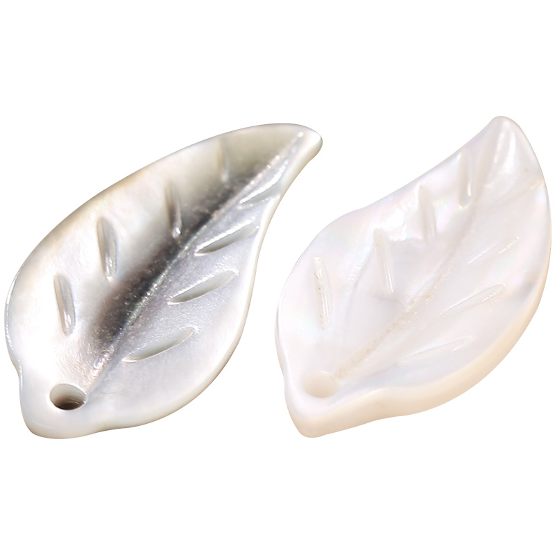 20pcs 31x13mm Natural Freshwater Shell Leaf Charms Fresh Water Shell Leaf Charms