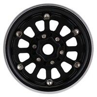"INJORA CNC Aluminum 1.9"" Beadlock Wheel Rim for 1/10 RC Crawler Car Traxxas TRX-4 Axial SCX10 90046 AXI03007 Upgrade Parts 5"