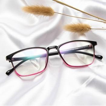 Fashion Vintage Plastic Eyeglasses Frames Women Square Eye Optical Glasses Frame Men Transparent Clear Lens Oculos De Grau ee women titanium eyewear frames round frame glasses titanium frame optical glasses oculos de grau clear eyeglasses