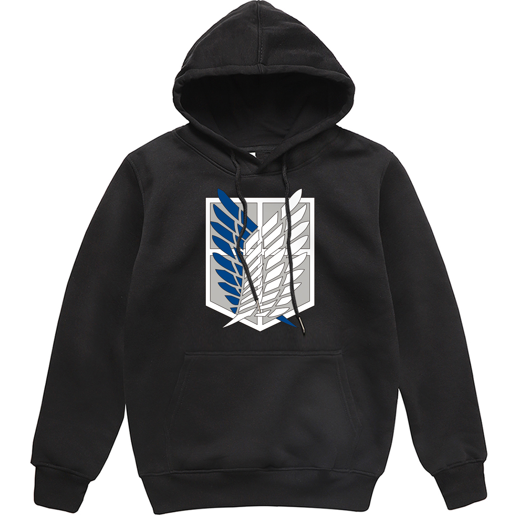 Attack On Titan Male Sports Pullover Wings Of Freedom Pattern Clothing Men 2019 Autumn Winter Warm Hooded Sweatshirt Men's Tops