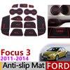 抗スリップゲートスロットマットゴムコースターフォードフォーカス 3 MK3 2011 2012 2013 2014 プリ改築 ST RS アクセサリー車のステッカー 13Pc