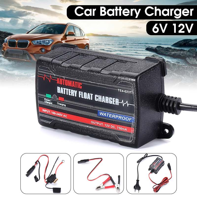12V 6A Full Automatic <font><b>Car</b></font> <font><b>Battery</b></font> <font><b>Charger</b></font> Maintainer <font><b>Trickle</b></font> RV <font><b>Car</b></font> Truck Motorcycle Waterproof Automatic <font><b>Charger</b></font> image