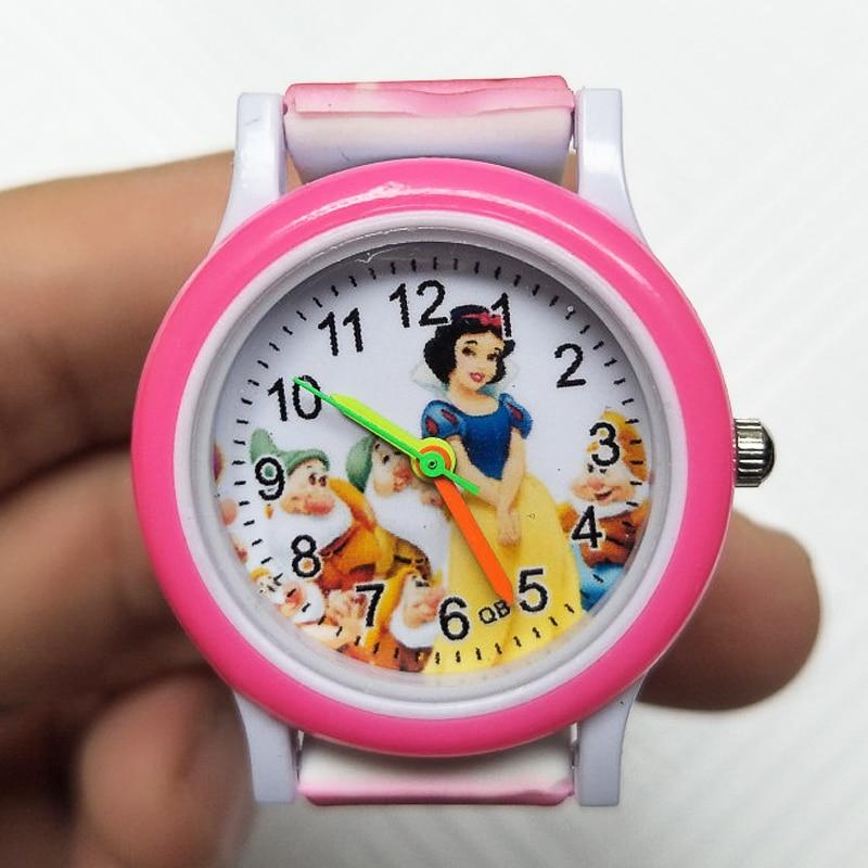Good Quality Children Watch Silicone Colored Strap Princess Kids Watches Girls Birthday Gift Fashion Child Quartz Watch Clock