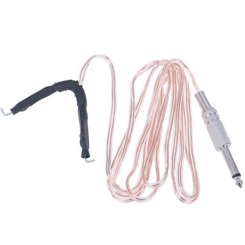 1.7m professionnel tête en métal Transparent Microphone Clipcord tatouage crochet ligne pour tatouage alimentation Machine Kit commutateur pédale