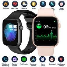 2021 relógio inteligente masculino smartwatch feminino chamada bluetooth relógio de fitness rastreador controle música à prova dwaterproof água para iphone xiaomi huawei iwo