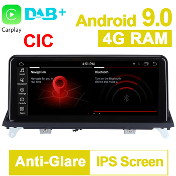 10.25 inch 4G RAM 64G ROM Android 9.0 System Car GPS Navigation Media Stereo Radio ForBMW X5 E70 X6 E71 2011- 2014 CIC System image