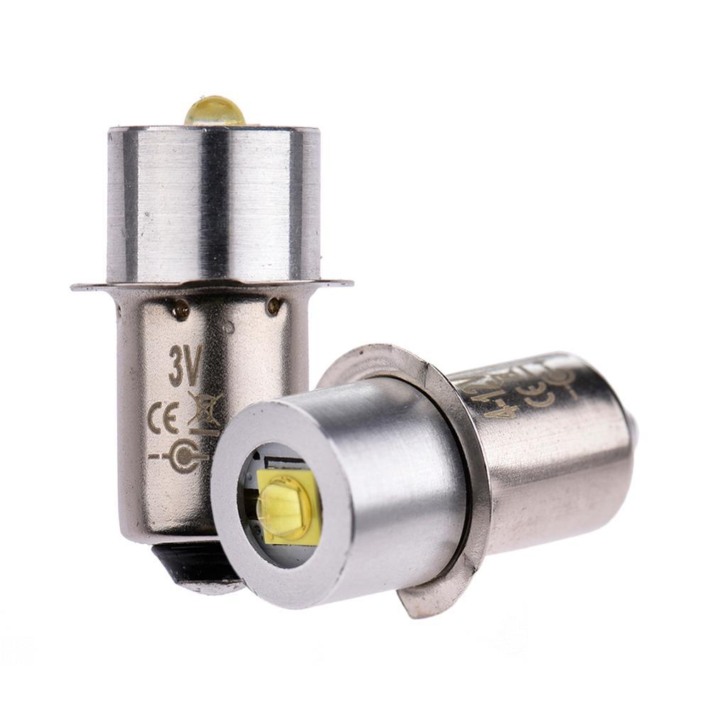 3W Aluminum Alloy LED Flashlight Bulb Energy-Saving P13.5S White Light 3V/4-12V
