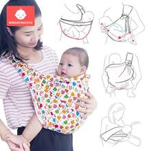 Cotton Ergonomic Kangaroo Baby Carrier Sling Wrap Newborn Infant Nursing Cover Carrier Mesh Fabric Breastfeeding Front Carriers