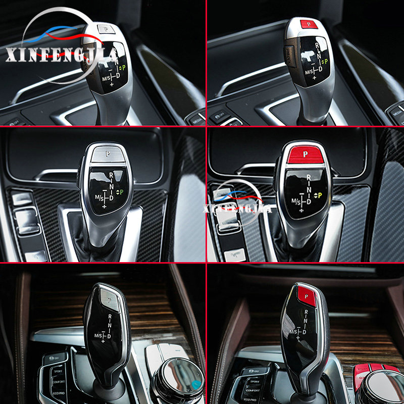 For BMW 1 2 3 4 5 6 7 Series 3GT 6GT X3 X4 X5 X6 Silvery Red 1* Gear Shift P-File Button Sequin Decoration Decal Trim