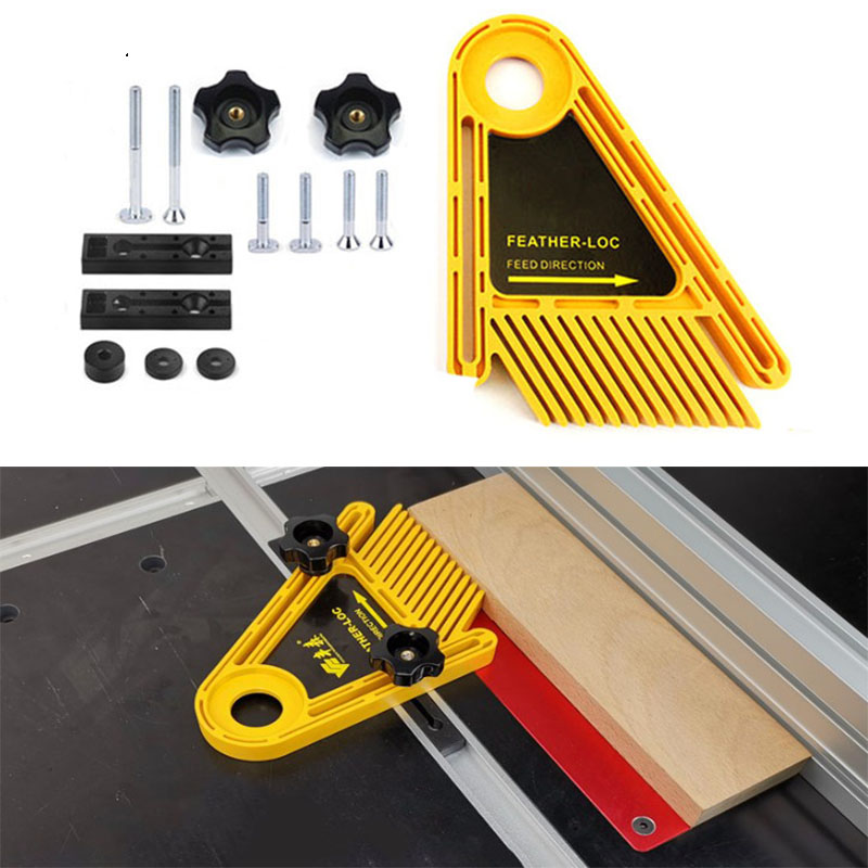 Woodworking Engraving Miter Double Machine Multi Purpose Table Slot Feather Loc Board Set For Table Saw Gauge Carving Tools