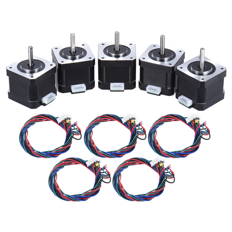 3D Printer Parts Nema 42 Stepper Stepping Motor Drive Control 2 Phase 1.8 Degree 0.9A 0.4N.M 42Mm Printer Accessory Replacemen