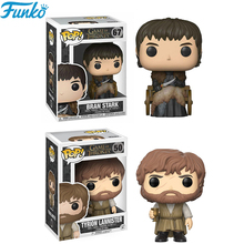 цена Funko Pop Game of Thrones Bran Stark Tyrion Lannister PVC Action Figures Toys Collection Model Brinquedos Gifts 2F15 онлайн в 2017 году