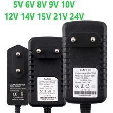 12V Supply Power Adapter DC 5V 6V 8V 9V 10V 14V 15V 21V 24V Supply Power Adaptor 220V To 12V Charger Switching 1A 2A 3A Adapter(China)