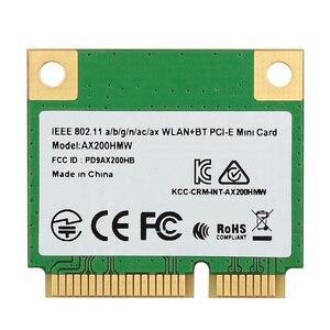 Mini PCI-E Wifi 6 Intel AX200 Half Mini PCI Express Dual Band 2974Mbps Bluetooth 5.0 Laptop Card Wlan 802.11ax Wireless AX200HMW