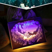 12 Constellation Paper Carving Lamp Novelty 3D NightLight USB Power Paper-cut Atmosphere Lamp Living Room Bedroom Art Decoration