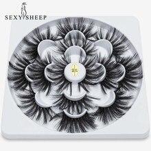 Sexysheep — Faux cils vison long 22-25mm 5D, 7 paires de cils en extension artificielle, maquiagem