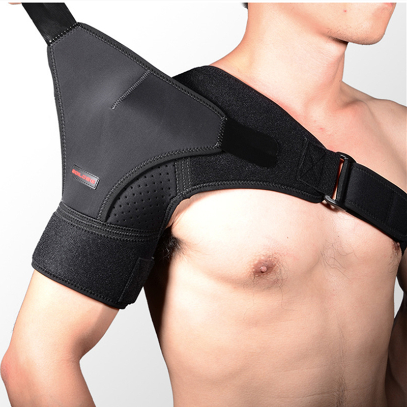Single Shoulder Brace Sports Adjustable Shoulder Support Protector Neoprene Dislocated Shoulder Strap Pain Relief Pad Wrap Guard(China)