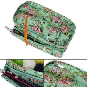 Image 5 - Looen 11 スタイル糸ニットdiyの針芸術クラフトホルダートートオーガナイザー収納かぎ針バッグ空の正方形の収納バッグ