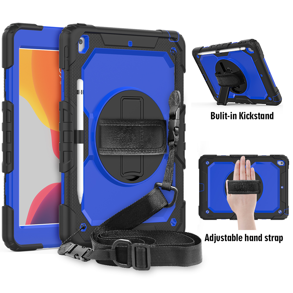 Blue Blue 360 degree rotation Shockproof Kids cover For iPad 8th 2020 7th Gen 10 2 A2200 A2198
