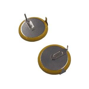 Image 2 - Литий ионная аккумуляторная батарея LIR2025 с 2 контактным вертикальным аккумулятором 90 градусов 3,6 В, Литиевые кнопочные батареи для монет, 2025 заменяет VL2020