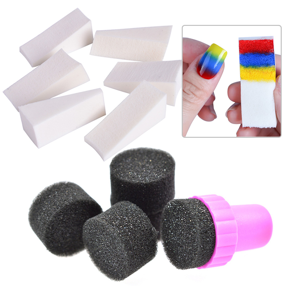 Soft Sponges Gradient Nail Stamper Gel Polish Printing Tools Change Color Template Stamping DIY Image Nail Art Manicure TR1597
