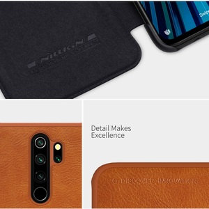 Image 3 - Redmi Note 8 case global version NILLKIN Vintage Qin Flip Cover wallet PU leather PC back cover For Xiaomi Redmi Note 8 Pro case