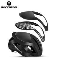 ROCKBROS-Casco de bicicleta 3 en 1, reflectante EPS para hombre, luz de seguridad integrada